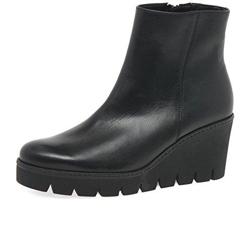 Gabor Utopie Womens Klobige Keil Heel Ankle-Boots 7 UK/ 40.5 EU Schwarz