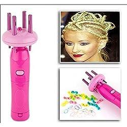 Xiton 1 PC Portable Outil De Tressage De Cheveux Braider Automatique Quick Twist Styler Machine à Tresser Les Cheveux Bricolage Styling Roller (N'Inclut Pas Les Piles)
