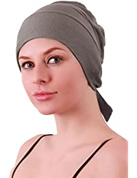 Unisex Adjustable Tie Back Cotton Cap for Chemo, Hair Loss, Alopecia