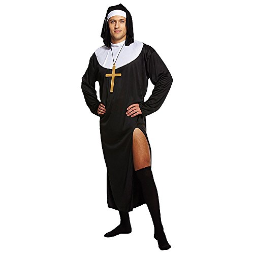Nun Fancy Dress Kostüm (Schwarz) - One - Nonnen Kostüm Fancy Dress