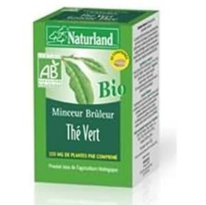 Naturland - Thé Vert Bio - Minceur Brûleur - Boite 90 comprimés