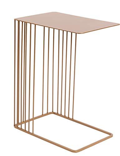 Jiniriiuirhinibdsbu Original Design Nordic U-förmige Metall Blumenständer Moderne Wohnzimmer Sofa Kreative Schmiedeeisen Seite Couchtisch, Keine Notwendigkeit, Punsch (Farbe : Metallic) -