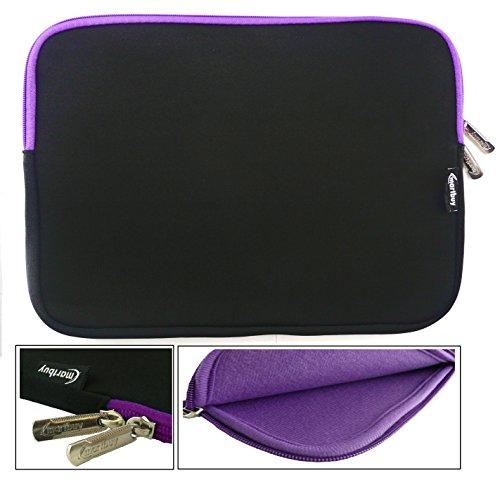 Emartbuy® Schwarz/Lila Wasserdicht Neopren weicher Reißverschluss Kasten Abdeckung Sleeve Mit Lila InterieurundZip geeignet für Jumper EZpad 5s 11.6 Zoll Tablet PC (11.6-12.5 Zoll Tablet) - Zip Jumper