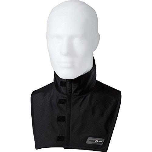 halskrause motorrad Thermoboy Halskrause Gesichtsschoner Halswärmer 1.0, schützt den Hals vor Zugluft, winddicht, atmungsaktiv, Schwarz, XL