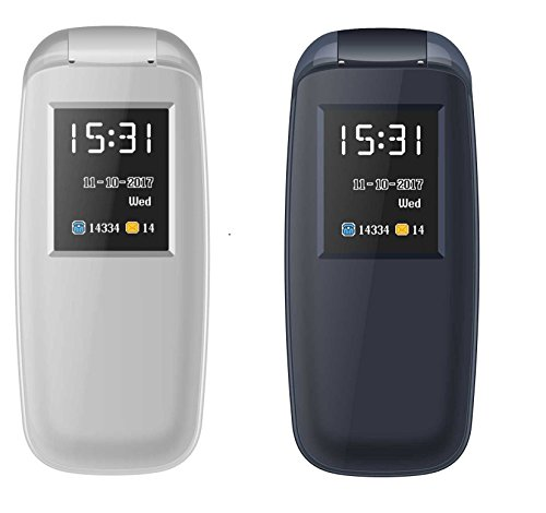 IKALL K3312 Combo Mobile Phone (Blue + Grey) Dual Sim Flip Mobile With Vibration Feature, 1000 MAh Battery Capacity