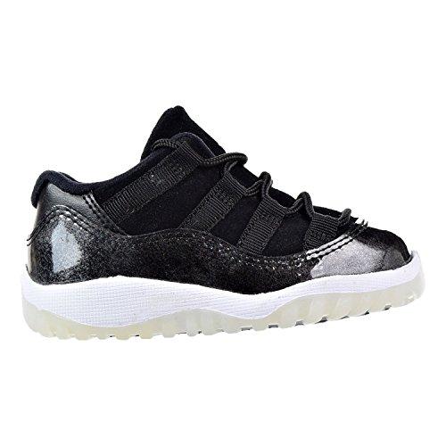 Jordan 11 Retro Low Toddler 505836-010 Black/White-Metallic Silver