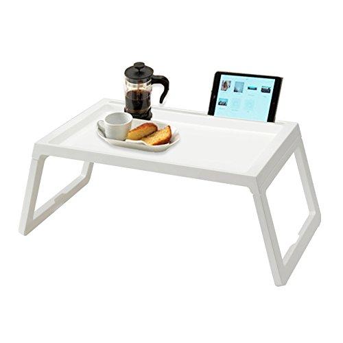 ArmaGedon Bandejas de mesa prematura, Una mesa portátil portátil con mesas de camping al aire libre Lea la paleta, con la laptop multifuncional con piernas plegables, 22 pulgadas de largo blanco