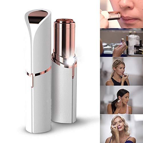 Gesichts Epilierer für Frauen Elektrische Mini Tragbare Sicher Keine Schmerzen Haarentferner Wasserdichte Haarschneider mit eingebautem LED-Licht für Cheek Achselhöhle Kinn und Ganzkörper