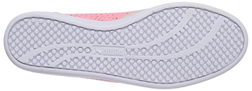 Puma Match Lo Canvas Sport Wn's, Chaussons Sneaker Femme Rose (flamingo pink-whisper white-crystal rose 01)