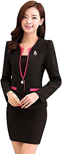 ca4138e64edf Belsen Damen Geschäfts Anzug Röcke Kleid Blazer Kombinationen (XXL, schwarz)