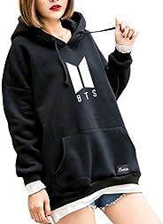 Autone Fashion Hoodies,BTS Hoodie Bangtan Hooded Sweatshirt Hip Hop Patchwork Hoodies with Pocket