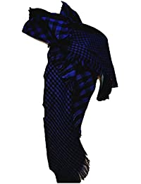 £4.49 Ladies Checked Scarf Purple, Red, Blue