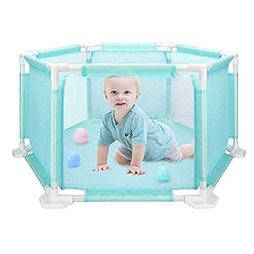 Dongyd box per bambini box esagonale per bambini vasca per bambini ball washable ocean ball pool set per neonati/toddler/neonato/infantile crawling sicuro