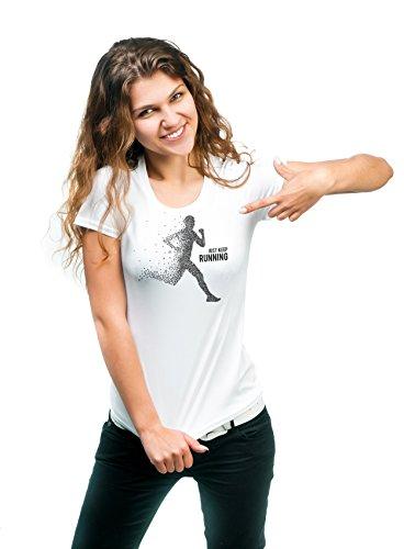 Halten Sie gerade laufendes T-Shirt Sport 180g. Premium Qualität Schnelltrocknung (Frau, (Outfits Niedlichen Kerl)