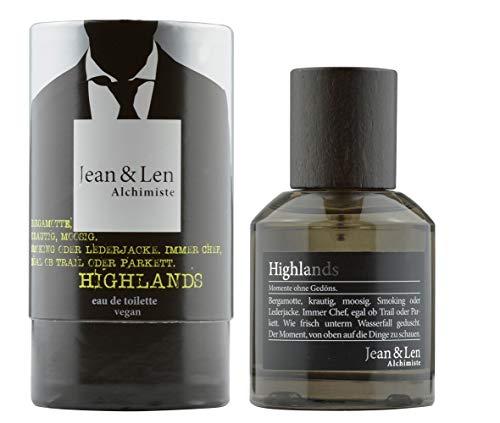Jean & Len Herrenduft Highlands, Eau de Toilette, 50 ml, Parfüm für Männer, Duftnote: vital, frisch, belebend, erfrischend, 1 Stück