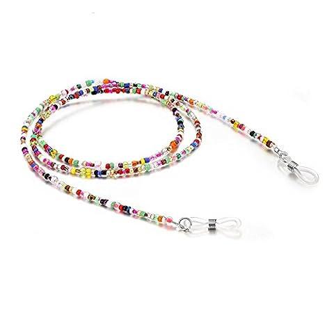 L-FENG-UK Women's Decorative Glasses Spectacle Eyewear Bead Chain