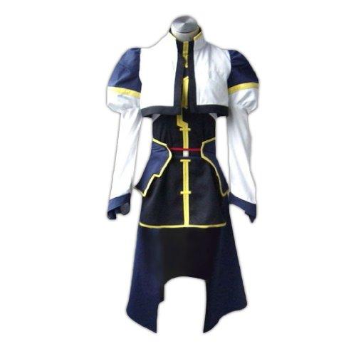 Combat Girl Kostüm - Dream2Reality japanische Anime Magical Girl Lyrical Nanoha Cosplay Kostuem - Hayate Yagami Combat Uniform Kid Size Large