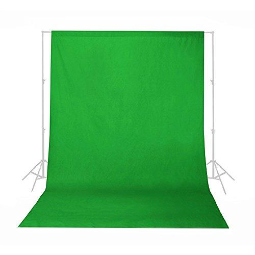 Phot-R - Fondo croma verde de 1,8 x 3 m, para estudio de fotografía y vídeo profesional, 100% muselina de algodón, lavable a máquina
