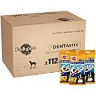 Pedigree Dentastix - Daily Dental Care Chews, Large Dog Treats from 25 kg+, 1 Box (1 x 4.32 kg/Total of 112 Sticks)