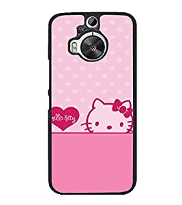printtech Kitty Cat Back Case Cover for HTC One M9 Plus