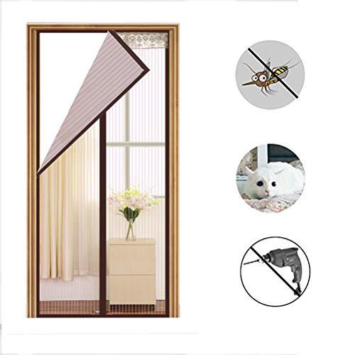 (Dafang Fliegengitter Tür Insektenschutz, Fliegengitter Tür Insektenschutz Magnet Vorhang Fliegenvorhang,90 * 200cm)