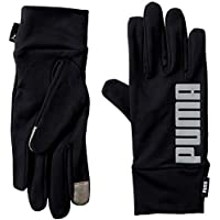 Puma PR Performance Gloves Guantes, otoño/Invierno, Unisex Adulto, Color Puma Black-Reflective Silver, tamaño Medium