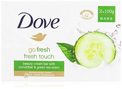 Dove - Sapone, Detergente di Bellezza con Tè verde e Cetriolo - 200 g  2 Pezzi