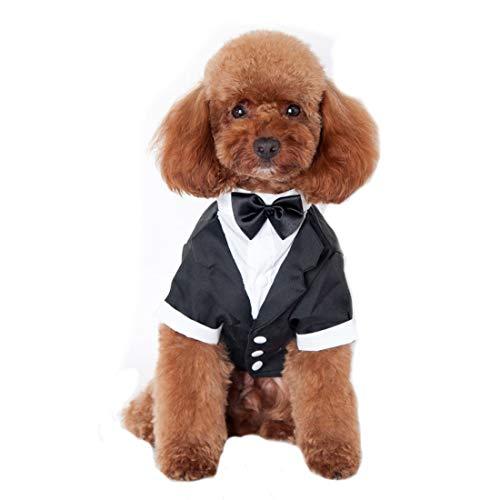 Ancdream Mascotas Elegante Fiesta Formal Traje Ropa Partido Smoking para Perros Abrigos