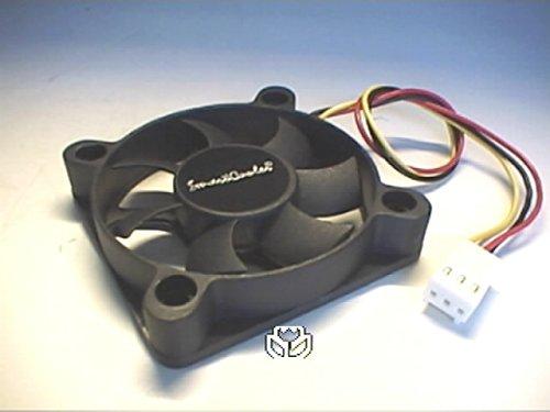 50x10 mm - SmartCooler© standard speed 4-Loch Lüfter LFM1150L, doppletes NANO Kugellager, 300.000 Std. MTBF, mit Tachosignal und 3-Pol. Stecker, 3.000 U.P.M., 11,57m³/h, 12 dbA (Kugellager Lüfter Low-speed)