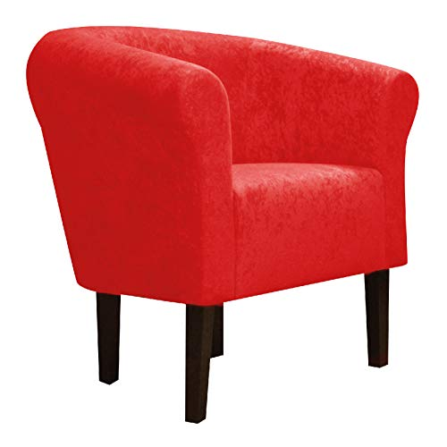 """FORTISLINE Clubsessel Loungesessel Cocktailsessel Monaco 2\"""" Mikrovelur W426_13 (Rot)"""