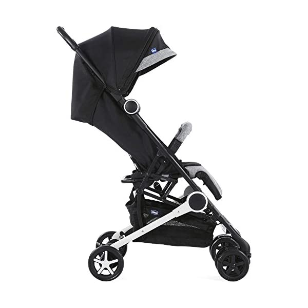 Chicco Minimo Stroller With Bumper Bar - Black Knight Chicco - BabySecurity Suitable from birth to 15kg Lightweight- only 5.8kg! One hand folding system 2