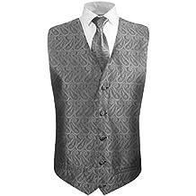 bdefb1338674 Paul Malone Matrimonio Gilet Gilet da Sposo + Cravatta (Molti Colori e  Disegni)