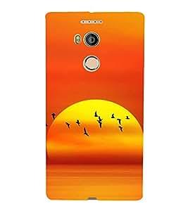 Fuson Designer Back Case Cover for Gionee Elife E8 (Sunrise Sun Orange Sunrise At beach Nature beauty)