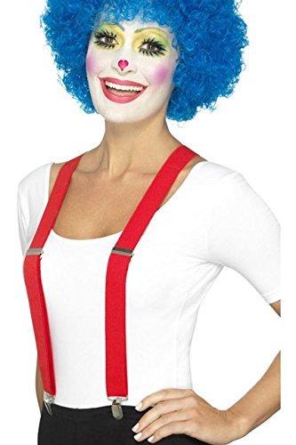 Smiffys, Unisex Clown Hosenträger, One Size, Rot, 46870