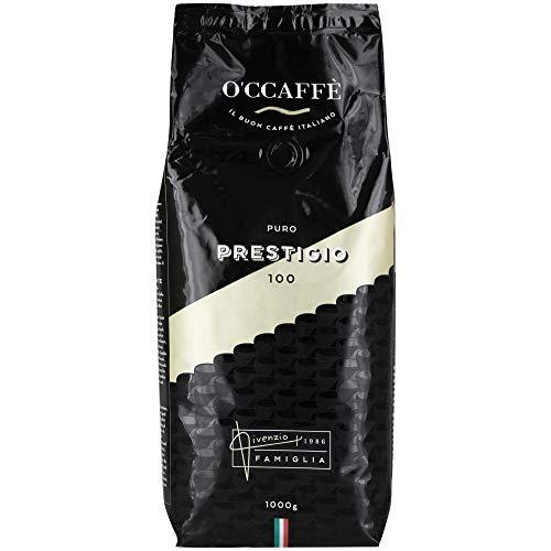 O'caffè Prestigio 50/50 | Säurearm & Magenfreundlich | italienischer Barista Espresso aus extra langsamer Trommelröstung | 1kg Kaffee ganze Bohnen