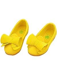Hunpta zapatos de princesa para niña, suave, de piso