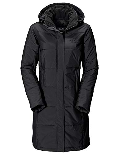 Jack Wolfskin Damen Mantel Iceguard Coat-1201222-6000002 Schwarz (Black), S Lange Damen Winter Mäntel