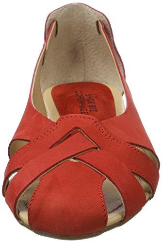 Shoe Biz Flat, Sandales Compensées Femme Rouge (Nubuk Red)