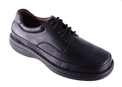 Propet - Scarpe Oxford uomo Nero (Pelle nera)