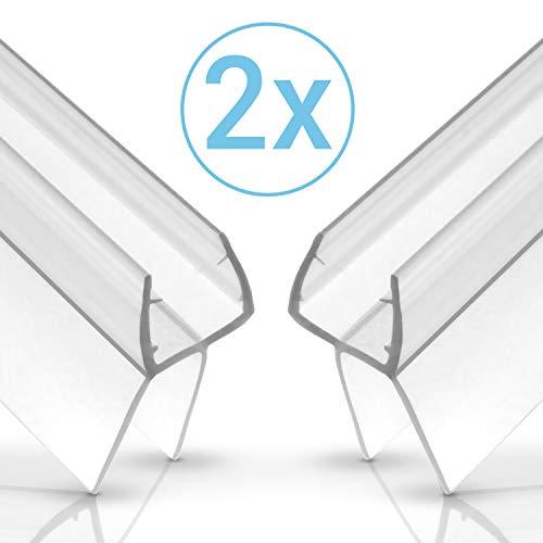 EINFÜHRUNGSANGEBOT - Balder 100cm Universal Duschdichtung [Doppelpack] - Ideale Dichtung für 6mm, 7mm und 8mm Glastür - Langlebige Duschkabinen Gummilippe - Einfach zuschneidbarer Schwallschutz