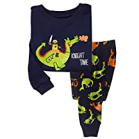 Qtake Fashion Boys Pajamas Children Clothes Dinosaur Set 100% Cotton Little Kids Pjs Sleepwear (1-2 Years, Pajamas1)