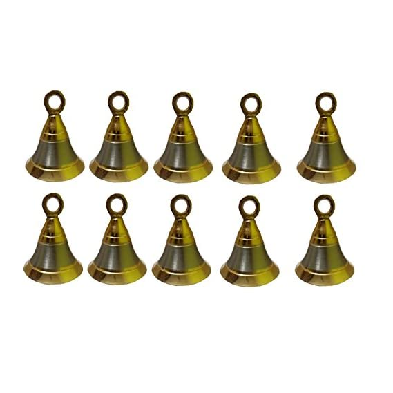 A & Y TRADERS POOJA ROOM DOOR BELLS SIZE 2 INCH PACK OF 10 WITH HOOKS
