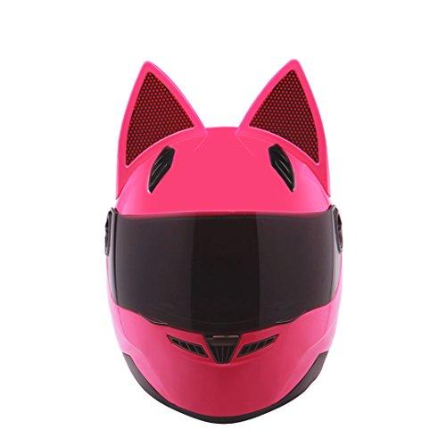 Motorrad Helm Männer Frauen Persönlichkeit Katze Helm Capacete De Moto Vollgesichts Racing Helme Pink XXL