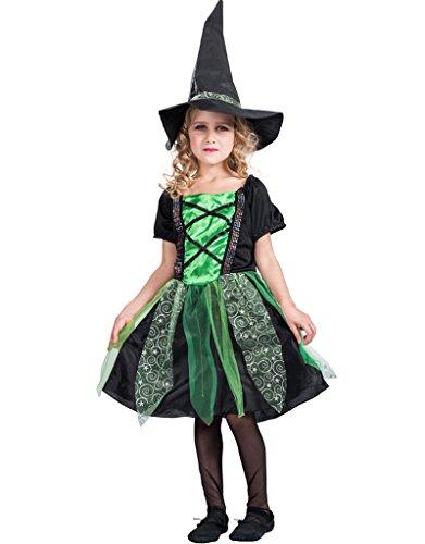 EraSpooky Mädchen Märchen Classic Halloween Hexe Kostüm (Böse Hexe Kostüm Kinder)