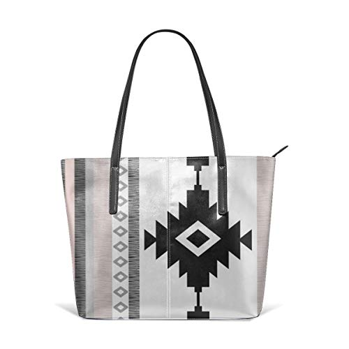 Sotyi-ltd Pueblo Strandtasche/Reisetasche/Einkaufstasche/Schultertasche für Damen und Mädchen, Pink