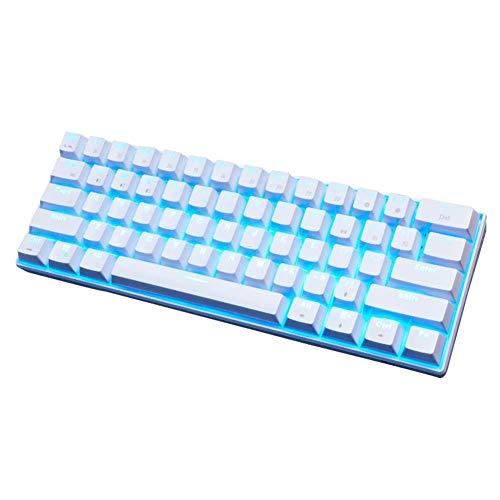 Tastiera Meccanica Gaming Con Retroilluminata a LED - 4 colori, Tastiera Bluetooth Wireless/Tastiera USB - Dual Mode, in Standby per 360 Ore, per Computer, Videogame, Telefono Cellulare, Tablet
