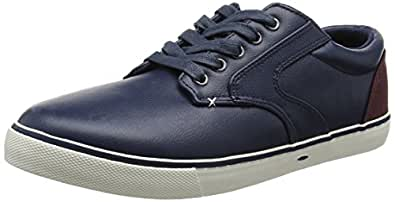Skate Sneaker, Sneaker Basse Uomo, Blu (Navy), 43 EU (9 UK) New Look