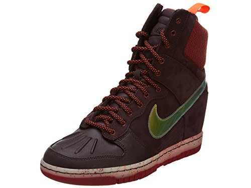 Nike Céu Enterrada Oi Sneakerboot 684.954, Sneakers Damen Hohe Hiper Borgonha Profunda Carmesim 600