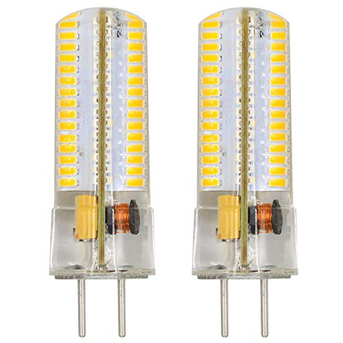 MENGS® 2 Stück GY6.35 6W LED Lampe 120x3014 SMD Warmweiß 3000K AC/DC 12V Mit Silikon Mantel -