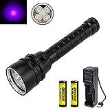 BESTSUN UV Tauchlampe, Ultraviolettes Scuba Dive Light 100m UV-Tauchlampe leistungsstarke 5 x LED...